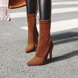 Arden Furtado Fashion Women's Shoes Pointed Toe Stilettos Heels red Elegant Ladies Boots blue stretch boots
