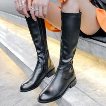 Arden Furtado Fashion Women's Shoes Winter pure color new Concise Women's Boots Leather Mature Classics Zipper  Big size 40