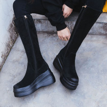Arden Furtado Fashion Women's Shoes Winter pure color Zipper New Matte Classics Women's Boots Knee High Boots