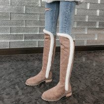 Arden Furtado Fashion Women's Shoes Winter  Back zipper Women's Boots  apricot Classics Knee High Boots Matte  Big size 42