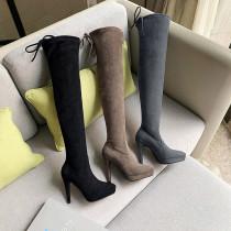 Arden Furtado Fashion Women's Shoes Winter Pointed Toe Stilettos Heels  pure color Sexy Elegant Ladies Boots Concise Mature