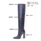 Arden Furtado 2019 winter autumn sexy high heels fashion woman's shoes over the knee boots chunky heels thigh high boots