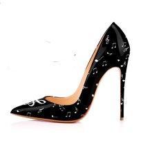 Arden Furtado Summer Fashion Trend Women's Shoes Pointed Toe Sexy Stilettos Heels Mature Slip-on Classics Pumps  Big size 45