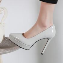 Arden Furtado Summer Fashion Trend Women's Shoes Pointed Toe Stilettos Heels Silver Waterproof Slip-on Sexy Elegant pure color