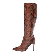 Arden Furtado Fashion Women's Shoes Winter Mature Sexy Elegant Serpentine Ladies Boots Concise Mature Knee High Boots