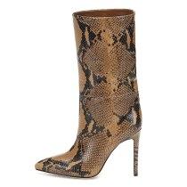 Arden Furtado Fashion Women's Shoes Winter  Pointed Toe Stilettos Heels Leather Elegant Ladies Boots Slip-on Women's Boots