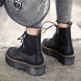 Arden Furtado Fashion Women's Shoes Winter  Sexy Elegant Ladies Boots pure color Cross Lacing Women's Boots Short Boots