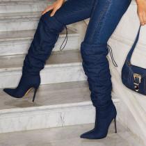 Arden Furtado Fashion Women's Shoes Winter  Pointed Toe Stilettos Heels  Sexy Elegant Ladies Boots  pure color Half Boots