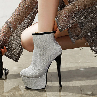 Arden Furtado Fashion Women's Shoes Winter Pointed Toe Stilettos Heels  white Zipper  Sexy Elegant Ladies Boots Short Boots