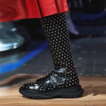 Arden Furtado Fashion Women's Shoes Winter Ladies Boots Classics Mature Concise Mature Leather pure color Cross Lacing