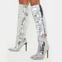 Arden Furtado Fashion Women's Shoes Winter Pointed Toe Stilettos Heels pure color Zipper  Sexy Elegant Ladies Boots Concise