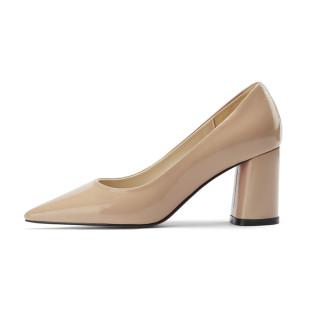 Arden Furtado Summer Fashion Trend Women's Shoes Pointed Toe Chunky HeelsClassics pure color Classics Shallow