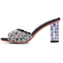 Arden Furtado Summer Fashion Trend Women's Shoes Sexy Elegant pure color Classics Concise Slippers Crystal Rhinestone new