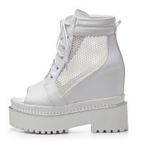 Arden Furtado Summer Fashion Trend Women's Shoes pure color Cross Lacing Sexy Platform Elegant Ladies Boots Concise Cool boots