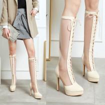 Arden Furtado Summer Fashion Trend Women's Shoes pure color Pointed Toe Stilettos Heels Zipper Sexy Elegant Ladies Boots