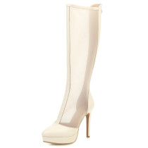 Arden Furtado Summer Fashion Trend Women's Shoes Pointed Toe Classics Sexy Elegant Ladies Boots Concise Stilettos Heels Zipper