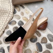 Arden Furtado Summer Fashion Trend Women's Shoes new Mature Classics Pointed Toe Special-shaped Heels Sexy Elegant Sandals