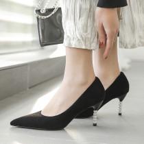 Arden Furtado Summer Fashion Trend Women's Shoes Pointed Toe Stilettos Heels Classics Pumps pure color  Sexy Elegant Slip-on