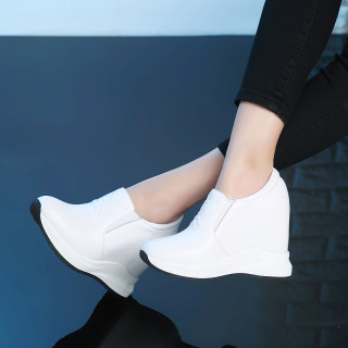 Arden Furtado Spring And autumn Fashion Women's Shoes Pointed Toe Shallow white Classics pure color Slip-on Casual Shoes Leisure