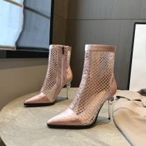 Arden Furtado Summer Fashion Trend Women's Shoes Pointed Toe Classics Stilettos Heels  Concise Zipper Cool boots  Short Boots