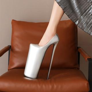 Arden Furtado Spring Fashion Women's Shoes round Toe Stilettos Heels Slip-on gold Pumps Platform Party Shoes extreme heels 30cm