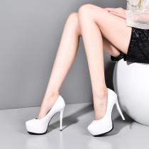Arden Furtado Summer Fashion Trend Women's Shoes Pointed Toe Stilettos Heels Waterproof  Slip-on Sexy Elegant pure color Pumps