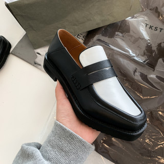 Arden Furtado Spring And autumn Fashion Women's Shoes Slip-on Shallow Mature Leather Classics Mixed Colors flats Pumps