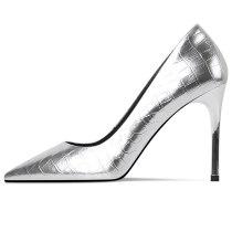 Arden Furtado Summer Fashion Trend Women's Shoes Pointed Toe Stilettos Heels  Sexy Elegant pure color Slip-on Pumps gun color