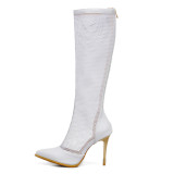 Arden Furtado Summer Fashion Women's Shoes Pointed Toe Stilettos Heels Zipper  Sexy Elegant Ladies Boots Concise Cool boots