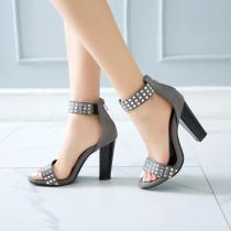 Arden Furtado Summer Fashion Trend Women's Shoes  Sexy Elegant  Matte pure color Crystal Rhinestone Classics Sandals