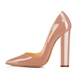Arden Furtado Summer Fashion Women's Shoes Pointed Toe Party Shoes  Chunky Heels Sexy Elegant pure color Slip-on Pumps Elegant
