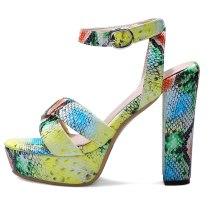 Arden Furtado Summer Fashion Trend Women's Shoes Classics Buckle Serpentine Buckle Waterproof Sexy Elegant Sandals Big size 46