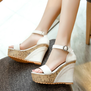 Arden Furtado Summer Fashion Trend Women's Shoes white Waterproof Elegant Sandals Buckle pure color White Sexy Concise Classics