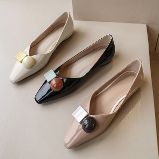 Arden Furtado Summer Fashion Trend Women's Shoes  beige pink Mature Pointed Toe Classics pure color Slip-on flats Pumps Loafers