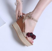 Women's Shoes wedges sandals open Toe strawberry shoes woman