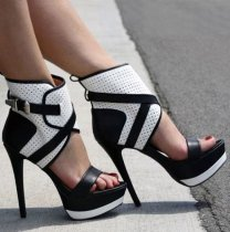platform high heels 16cm sexy stilettos peep toe cage sandals shoes for woman