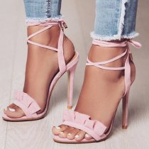 Arden Furtado summer 2019 fashion trend women's shoes stilettos heels lace up buckle ladylike temperament party shoes office lady