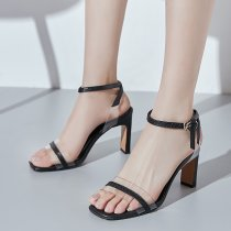 Arden Furtado summer 2019 fashion trend women's shoes stilettos heels buckle sandals elegant office lady mature big size 40