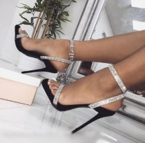 Arden Furtado summer 2019 fashion trend women's shoes party shoes stilettos heels  sandals buckle crystal rhinestone mature narrow band big size 45