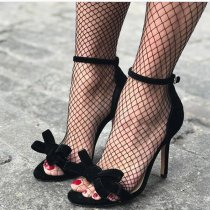 Arden Furtado summer 2019 fashion women's shoes stilettos heels sexy elegant pure color bowknot butterfly knot concise sandals