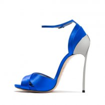 Arden Furtado Summer Fashion Trend Women's Shoes Stilettos Heels Narrow Band Sexy Elegant Pure Color blue Sandals Sexy Big size 43