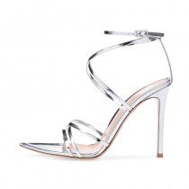 Arden Furtado Summer Fashion Trend Women's Shoes Stilettos Heels Sexy Elegant Pure Color Classics Buckle Sandals Narrow Band