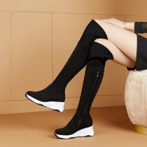 Arden furtado Personality Waterproof Wedges Fashion Women's boots Over the knee boots While the boots