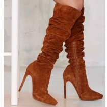 Arden furtado Winter spring autumn Stilettos heels Fashion stilettos heels knee high boots big size 40