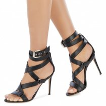 Arden Furtado Summer Fashion Women's Shoes Stilettos Heels Sexy Narrow Band Elegant gladiator Sandals pure color Big size 46