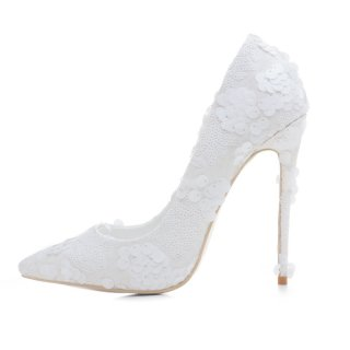 Arden Furtado new style slip on sexy high heels 12cm white lace wedding shoes for woman slip on shoes for woman stilettos
