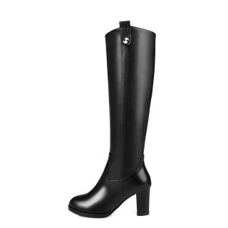 2018 winter genuine leather zipper knee high heels 8cm boots shoes for woman platform custom the shaft size