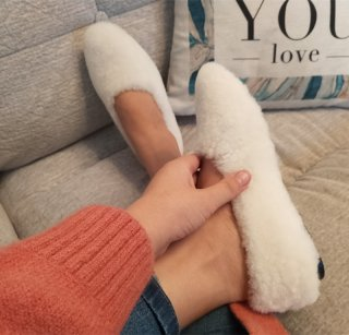 Drop shipping wool flats white brown black fur women's shoes comfortable large size china girls shoes female