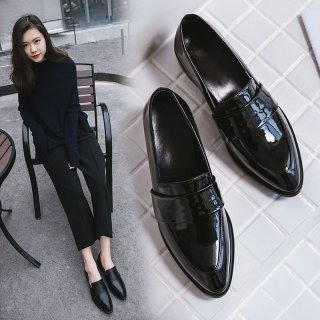British designer shoes fashion hot style black small shoes women's single shoes