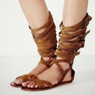 Summer 2019 fashion trend women's shoes buckle ankle strap brown leisure  sandals classics gladiator narrow band